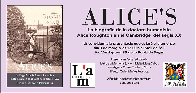 Presentació d'Alice's a La Pobla de Segur