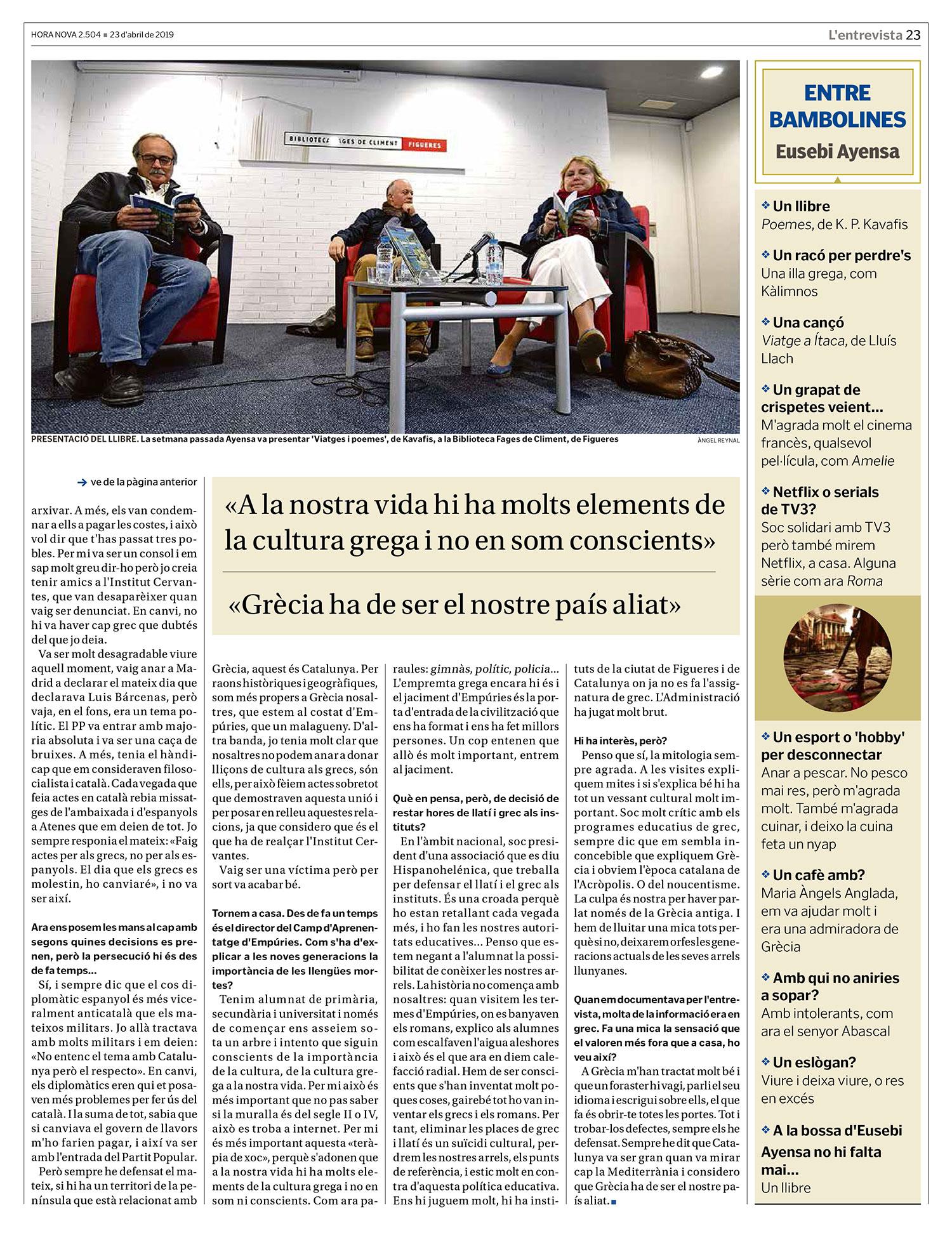 Entrevista a Eusebi Ayensa