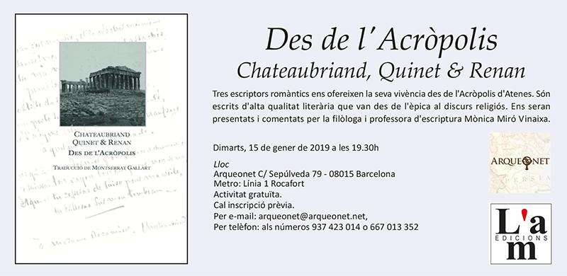 Presentació de Des de l'Acròpolis a Arqueonet