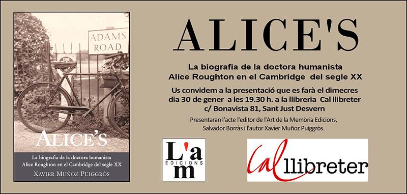Presentació d'Alice's a Cal Llibreter