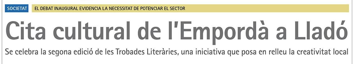 Cita cultural de l'Empordà a Lladó